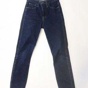 "madewell 10"" High-Rise Skinny Jeans sz 27"